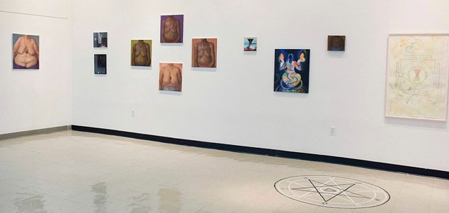 Installation view, She Ritual at Westchester Community College Center for the Arts