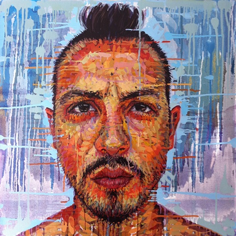 face, head, portrait, painting of people with a mohawk, matthew ivan cherry