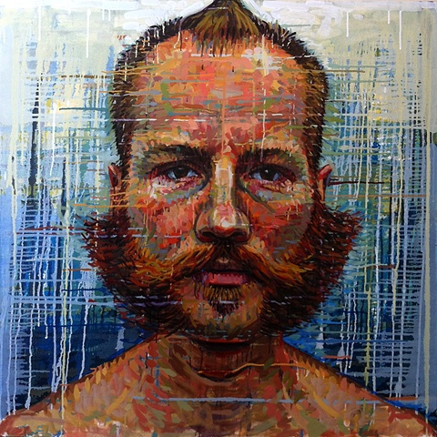 beard, moustache, man, male, face, head, portrait, painting, art, matthew ivan cherry, artist