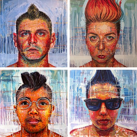 portraits of people w mohawks