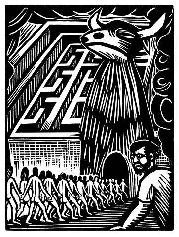Woodcut Novel Illustration