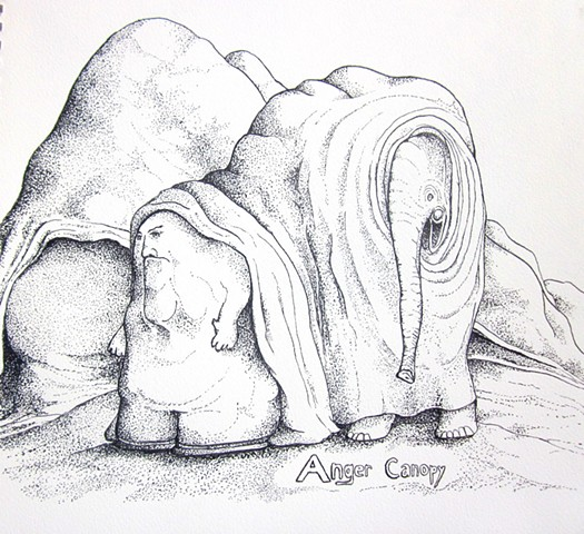 anger canopy with elephant and dwarf
