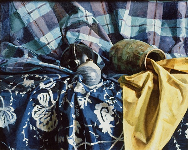 Still Life with Patterned Cloth