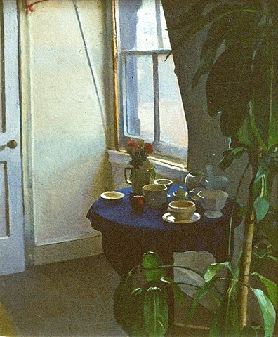 Studio Table and Plant
