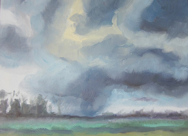 weater, climate change, oil painting, landscape, alla prima
