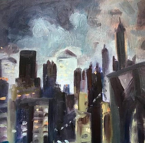 landscape art, urban landscape, 9/11 art, new york art