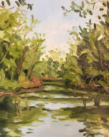 landscape painting, plein air, alla prima, upstate NY painting, contemporary painting