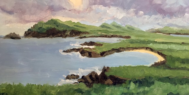 Ireland landscape painting, landscape painting, alla prima painting, plein air painting
