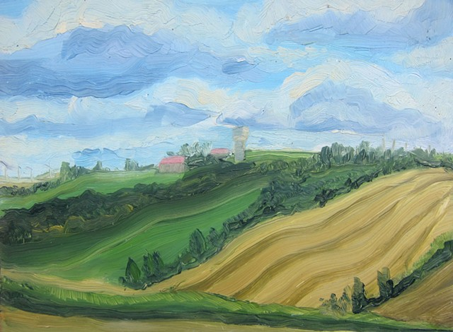 French landscapes, southern France, paintings of France