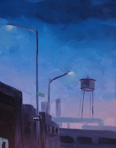 Landscape, urban, Brooklyn, All prima painter, plein air