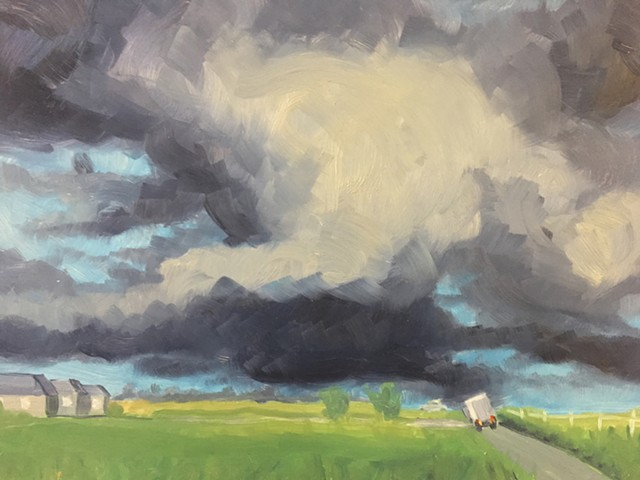 storm art, landscape painting, climate art, all prima painting