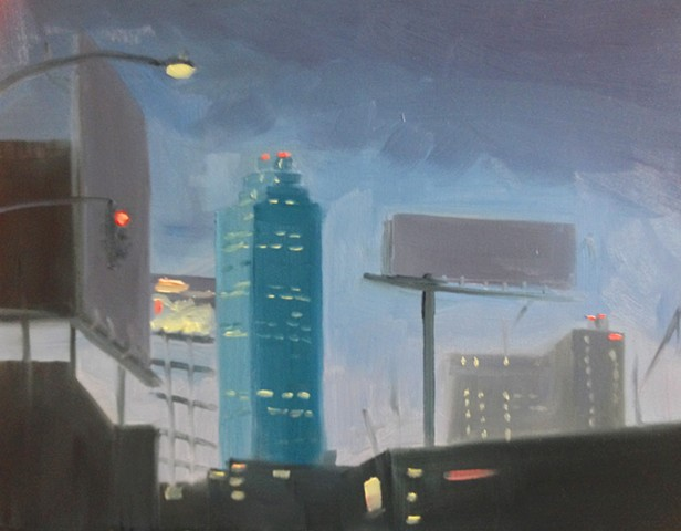 landscape, nyc, urban landscape, oil painting, queens, Long Island City