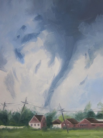 landscape painting, climate change, alla prima painting, storm painting