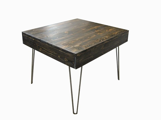 reclaimed wood table, contemporary side table, furniture