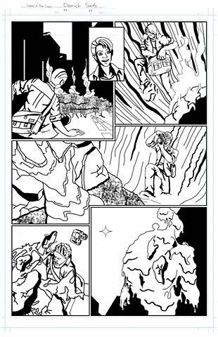 """The Legend of Blue Cosmic"" issue 1, page 5 inks"