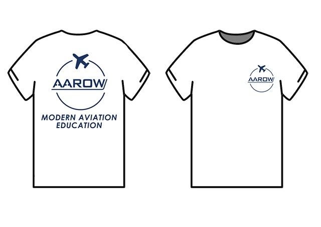 AAROW White T-shirt Design
