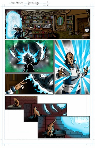 """The Legend of Blue Cosmic"" issue 1, page 2 colors"
