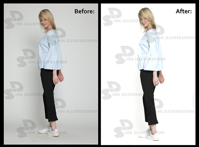 Photo retouch for Walter Baker upscale clothing brand