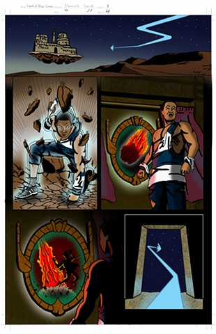 """The Legend of Blue Cosmic"" issue 1, page 4 colors"