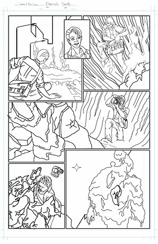 """The Legend of Blue Cosmic"" issue 1, page 5 pencils"