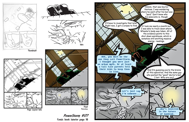 PowerStorm #177 interior page 18 process