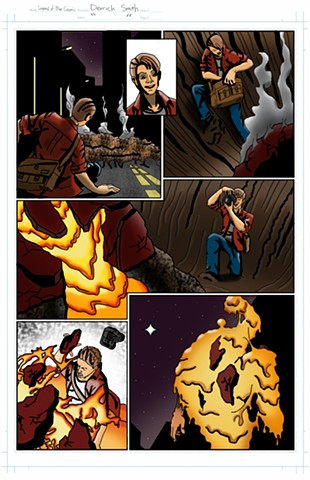 """The Legend of Blue Cosmic"" issue 1, page 5 colors"