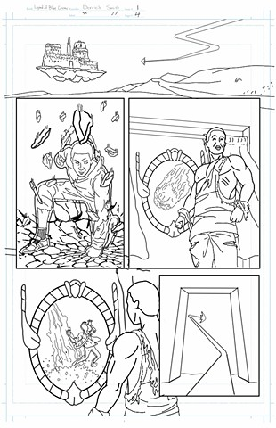"""The Legend of Blue Cosmic"" issue 1, page 4 pencils"