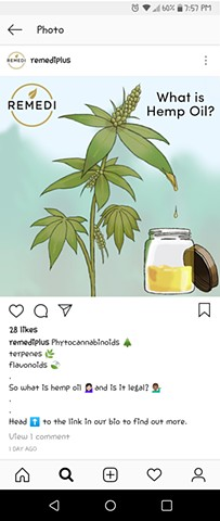 Remedi Plus Illustration used for Instagram post