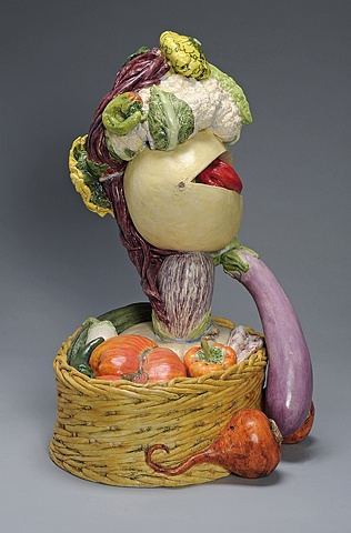 Ceramic food portrait by Linda S Fitz Gibbon, commissioned by Yolo Arts, funded by the James Irvine Foundation