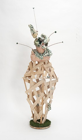 Ceramic and mixed media sculpture