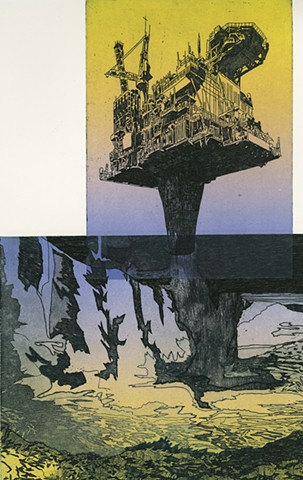 brigitte caramanna, image of cli-fi by brigitte caramanna, image of climate fiction by brigitte caramanna, image of climate change by brigitte caramanna, image of waterfall by brigitte caramanna, image of oil rig by brigitte caramanna, images of satellite