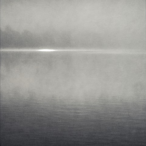 Photograph of sunrise, Mahopac, NY, haze, by Judith Ebenstein