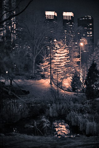 Image of Central Park at Night, New York City, by Judith Ebenstein