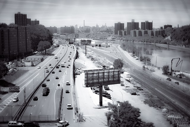 Photograph taken from High Bridge looking down on Manhattan by Judith Ebenstein