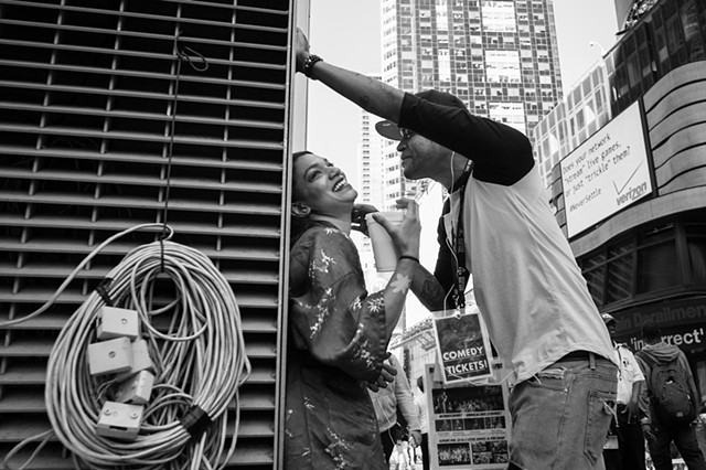 Photograph of a couple, Times Square, NY, Manhattan, by Judith Ebenstein