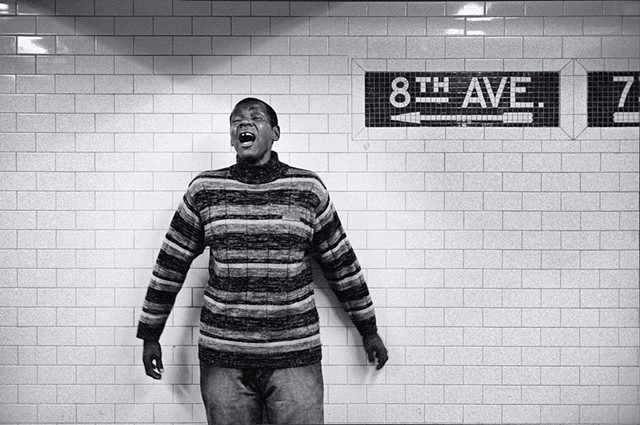 Photograph of a Singer, 8th Avenue Subway, Manhattan, New York, by Judith Ebenstein