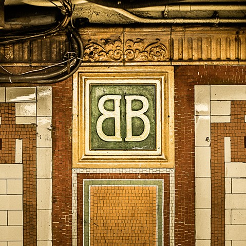 Photograph of the Brooklyn Bridge Subway Station, Brooklyn, NY, by Judith Ebenstein