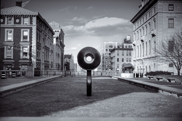 Photograph of the Life Force Sculpture at Columbia University by David Bakalar by Judith Ebenstein