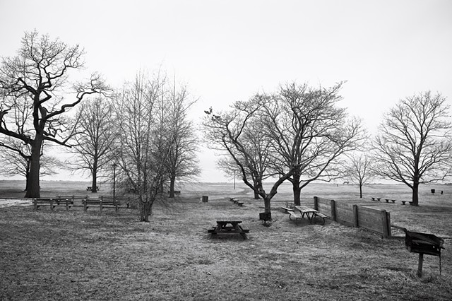 Photograph of Picnic Tables, Matthiessen Park, Irvington, NY, by Judith Ebenstein