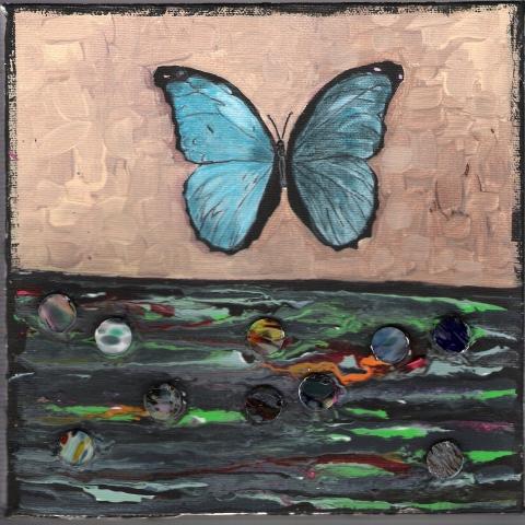 Butterflies & Ghosts 4 SOLD