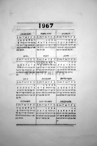 365 days that aren't mine (calendar detail)
