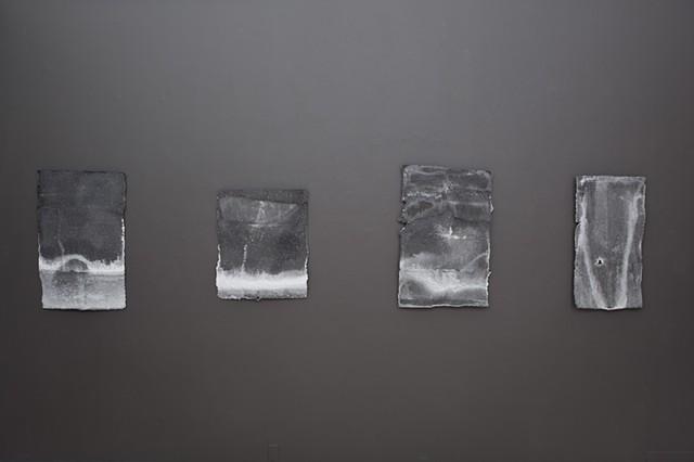 salt stains (installation view)