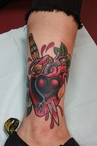 Heart and Dagger - Animal Farm Tattoo Chicago