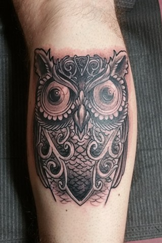 Animal Farm Tattoos Chicago Tatuajes Ornate Owl
