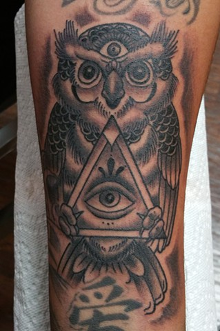 Animal Farm Tattoos Chicago Tatuajes Masonic Owl