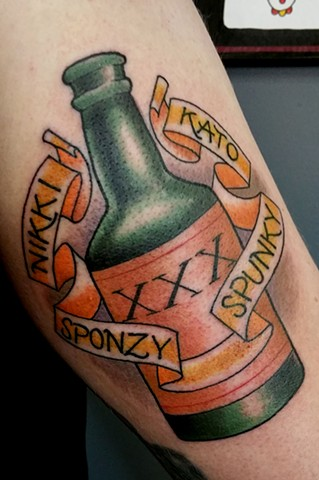 Boozy Buddies Tattoo