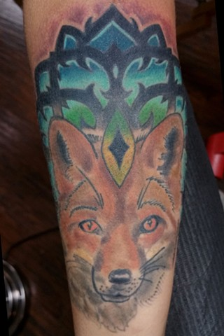 Animal Farm Tattoos Chicago Tatuajes Fox and Mandala