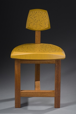 Yellow Children's Chair, front