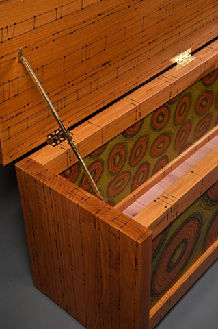 Detail, Green Scribble Blanket Chest