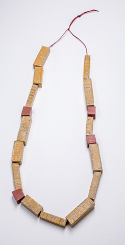 Wooden Blocks Necklace